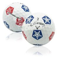 24 Callaway Chrome Soft Truvis Stars/Stripes AAAAA (5A) Used Golf Balls