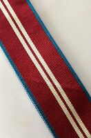 """Queens Diamond Jubilee Medal Ribbon, Full Size, Army, British, Military, 10"""""""