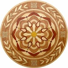 "18"" Wood Floor Medallion Inlay 213 Piece Kaleidoscope circle kit DIY Flooring"