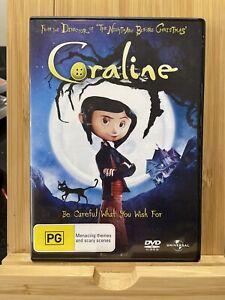 Coraline (DVD, 2010) Region 4 Rare