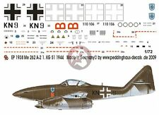 Peddinghaus 1/72 Me 262 A-2a Sturmvogel Markings 1./KG 51 'Edelweiss' WWII 1938