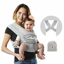 Baby K'tan Original Baby Wrap Carrier, Infant & Child Sling 35 lbs, Grey(Large)