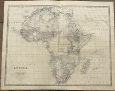 1861 Large Johnston Map - AFRICA - Rare Overlay of Lake Victoria & Nile Outfall