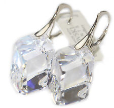 Ah! Jewellery® Crystals From Swarovski® 22mm Cubist Clear Earrings Stamped 925.