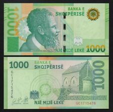 More details for albania: 1 x 1,000 albanian lek 2019 (2021) uncirculated banknote.