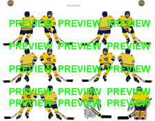 Coleco Table Hockey College Quinnipiac Yellow Team Custom Decal Sheet