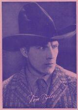 TOM  TYLER - western  cowboy MOVIE  star 1920s  UNKNOWN SOURCE  promo card