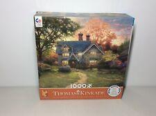1000 Piece Puzzle Thomas Kinkade Cottage Home Flowers Lawn House Art