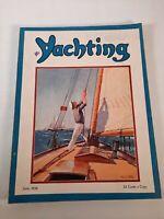 Vintage june 1936 Yachting magazine .Boating advertisements