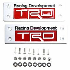 2PCS Aluminum TRD Racing Development Badge Floor Mat Emblem For Toyota