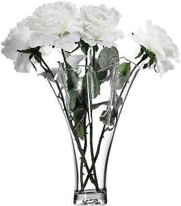 Tall Clear Glass Handkerchief Ruffled Vase Bouquet Vase - Mother's Day