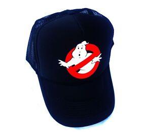 GHOSTBUSTERS BLACK HAT Halloween Costume Mesh Trucker Cap Adjustable Funny 80s