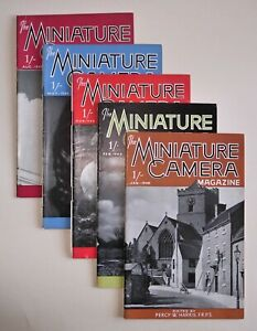 MINIATURE CAMERA MAGAZINE - 1948 YEAR BUNDLE OF 5 - GOOD CONDITION