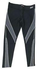 Fila Sport Women's L Large Running Workout Truglow Leggings Black Nine Iron