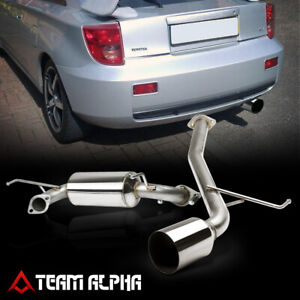 """Fits 2000-2005 Celica [4.5"""" TIP MUFFLER] Stainless Steel Catback Exhaust System"""
