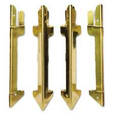Carver Hardwood Stackable Desk Tray, Four-Posts, Brass 018387072565