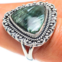 Seraphinite 925 Sterling Silver Ring Size 8.5 Ana Co Jewelry R58880F