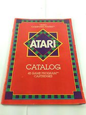 Atari 2600 & 7800 Video Computer System 45 Game Program Cartridges Catalog 1981