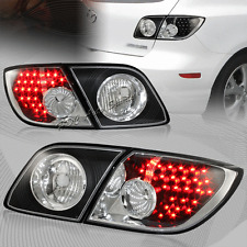 For 2004-2009 Mazda 3 5DR/Hatchback RED LED Black Housing Rear Tail Lights 4Pcs