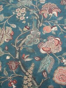 Zoffany Curtain Fabric ROSE ABSOLUTE 2.5m Antique Floral Design 100/% Wool