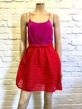 Fabulous Poppy Red Trelliced Tulip Skirt Large UK 10