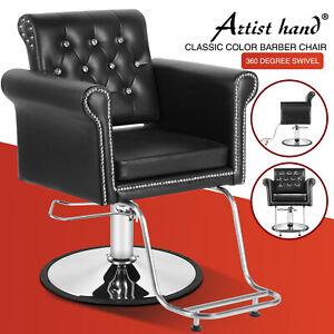 Classic Hydraulic All Purpose Barber Chair Heavy Duty Salon Metal Studs Styling