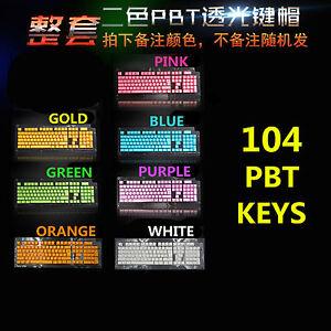 14/37/104 Set PBT Backlit Translucent Keycap for Cherry MX Mechanical Keyboard