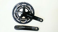 FSA Omega 8 9 10 Speed Road Triple Crankset Gloss Black, 50.39.30t, 167.5mm 19mm