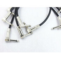 30cm Right Angle Guitar Effects Instrument Pedal Patch Cable Lead Cord Wire OZ