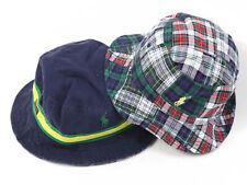 Polo Ralph Lauren Reversible Safari Bucket Hat Cap Patchwork Navy, Yellow, Green