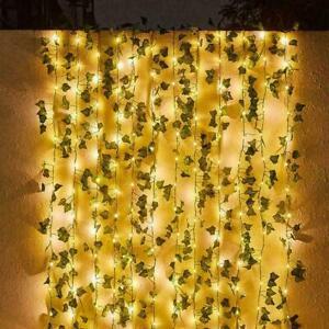 50/100LED Solar Powered Ivy Fairy String Lights Garden Outdoor Wall Fence Light