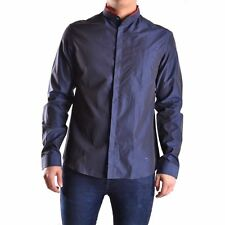 NEW Pierre Balmain Camicia Casual Silky look Shirt navy size 34/48, UK size M