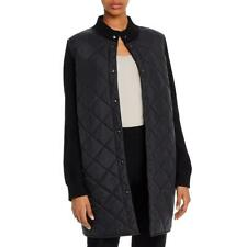 Eileen Fisher Womens Black Wool Sleeves Quilted Jacket Coat XS BHFO 6938