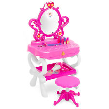 BCP Kids Princess Vanity Toy Set and Keyboard Combo w/ Stool, Accessories