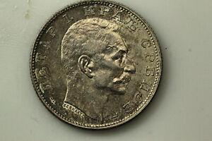 1915, Serbia Peter I, 2 Dinara .835 Silver Coin Alignment (NUM6254)