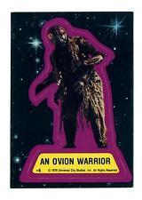 Topps 1978 Battlestar Galactica Sticker Card #6 An Ovion Warrior