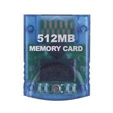 GameCube Memory Card 512MB (8192 Blocks) for Nintendo GameCube/ Wii (Clear)