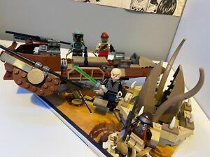 9496 LEGO Star Wars Desert Skiff 100% COMPLETE + MANUAL + EXTRA MINIFIGURES