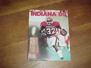 1989 Indiana Hoosiers Football Media Guide