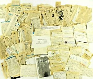 Vintage Kitchen Recipe Lot Estate Handwritten Family Recipe Cards & Clippings
