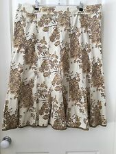Blue Illusion 16 Gored Skirt Size 3L Floral Pattern