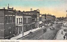 Sheldon IA Starrett DDS? 1st National Bank on Corner~Only Buggies & Wagons c1909