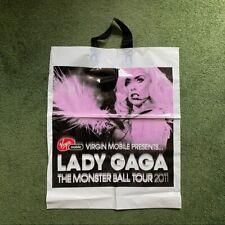 Rare Official Lady Gaga 2011 Monster Ball Tour Plastic Souvenir Bag