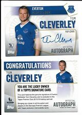 Topps Premier Club 2016 Everton Tom Cleverley Autograph Signed Card 194-265