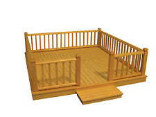 1:12 Scale Flat Pack Natural Finish Wood Decking Kit Dolls House Accessory