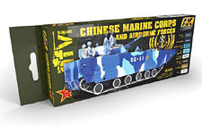 Ak Interactive AKI-4250 AFV Chinese Marine And Airborne Forces Paint Set-8 Color