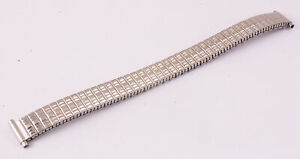 Vintage 9-12mm Stainless Steel Expanding Watch Strap (X64)