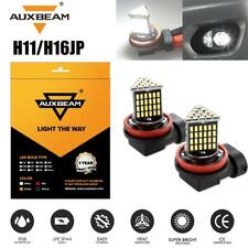 AUXBEAM 2x White H8 H9 H11 LED Bulbs High Power LED Car Fog Driving DRL Light