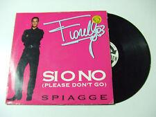 """Fiorello – Si O No / Spiagge - Disco Mix 12"""" Vinile ITALIA 1993 Italodance"""