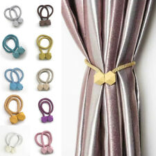 2X Magnetic Ball Curtain Tiebacks Tie Backs Buckle Clip Holdbacks Home Decor